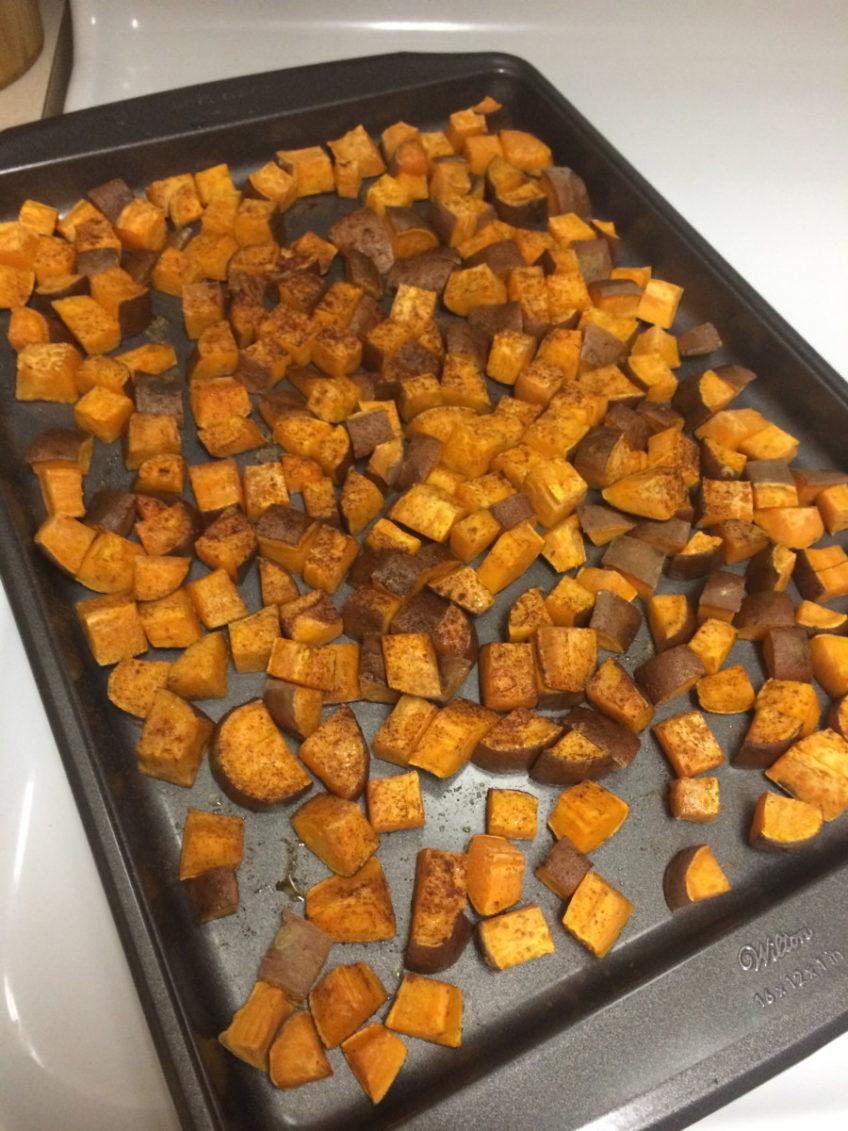 Cinnamon & Ginger Baked Sweet Potatoes