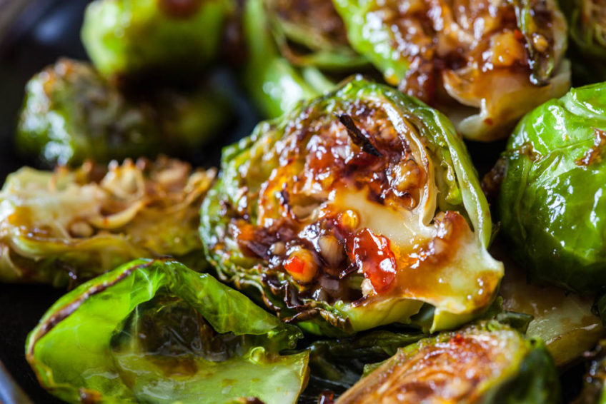 Sweet Thai Chili Roasted Brussels Sprouts