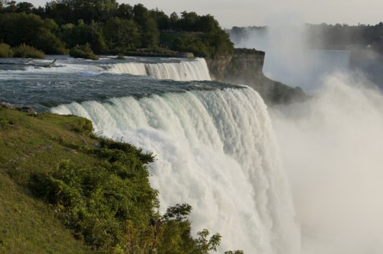 75,000 gallons of water falling over 150 ft per second.