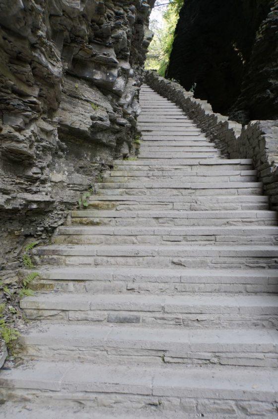 Stairways cut into the Glen.