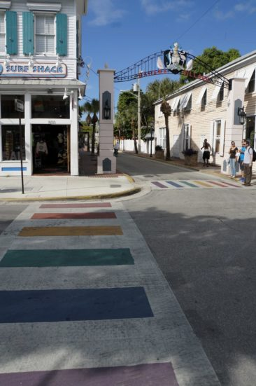 Sidewalks that celebrate Key West's pride tradition.