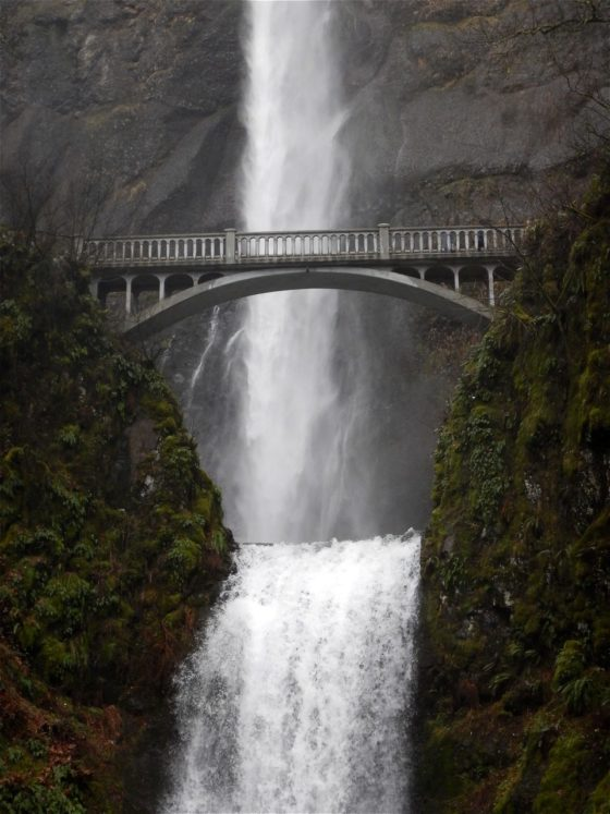 Multnomah Falls, the second tallest year-round waterfall in the United States!